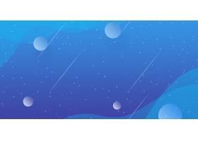 星空简洁科技主题海报展板Banner背景