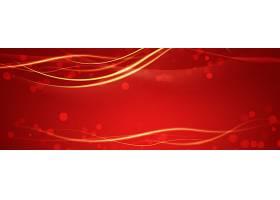 红色流光线条科技主题海报展板Banner背景