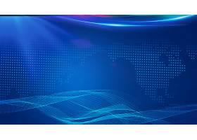 蓝色线条科技主题海报展板Banner背景