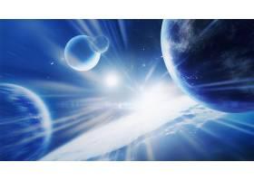 星空星球光影元素科技主题海报展板Banner背景