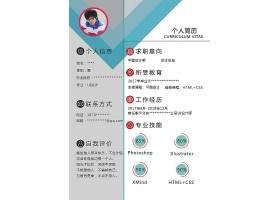 个人求职简历履历工作经历职业技能展示模板