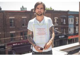 男女上衣服饰服装T恤展示智能样机
