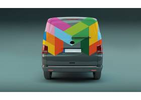 时尚车体广告贴图贴纸智能样机素材