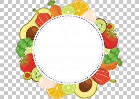 水果蔬菜主题边框免抠PNG元素
