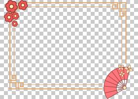 卡通扇子边框免抠PNG元素