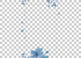清新花卉边框免抠PNG元素