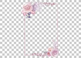 手绘花卉边框免抠PNG元素