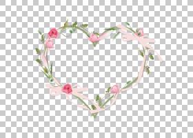 心形植物花卉边框免抠PNG元素