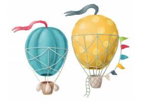 创意卡通个性氢气球元素海报素材