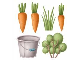卡通创意个性植物蔬菜元素设计素材