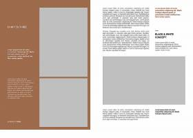 简约风Blogger电子书Lookbook目录设计模板