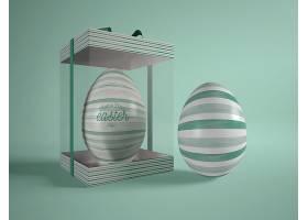 简约风创意彩绘的复活节彩蛋和装饰盒设计模板