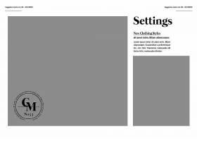 简约风照片杂志双折A4美国信件设计素材