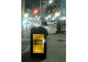 街景步行街商场广告牌户外广告样机