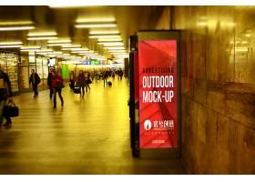 商场户外广告牌广告展示智能样机
