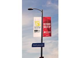 路灯灯柱广告牌户外广告样机