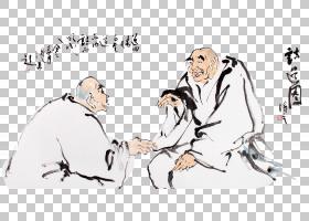 水墨古代人物 中国风古典古人插画PNG (1)