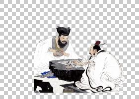 水墨古代人物 中国风古典古人插画PNG (100)