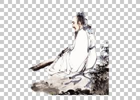 水墨古代人物 中国风古典古人插画PNG (103)