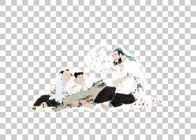 水墨古代人物 中国风古典古人插画PNG (106)