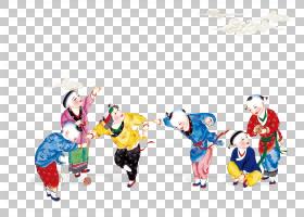 水墨古代人物 中国风古典古人插画PNG (11)