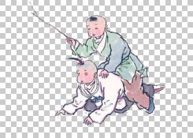 水墨古代人物 中国风古典古人插画PNG (12)