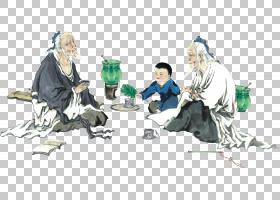 水墨古代人物 中国风古典古人插画PNG (13)