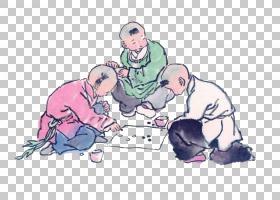 水墨古代人物 中国风古典古人插画PNG (17)