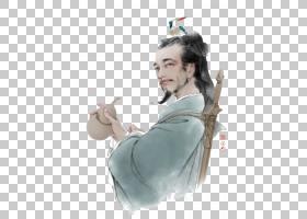 水墨古代人物 中国风古典古人插画PNG (19)