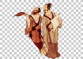 水墨古代人物 中国风古典古人插画PNG (2)