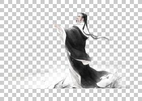 水墨古代人物 中国风古典古人插画PNG (20)