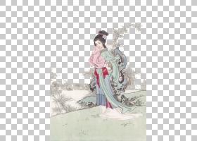 水墨古代人物 中国风古典古人插画PNG (24)