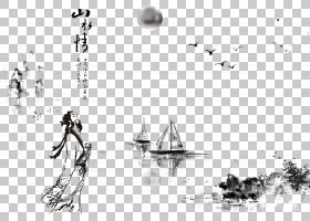 水墨古代人物 中国风古典古人插画PNG (26)