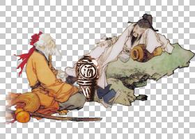 水墨古代人物 中国风古典古人插画PNG (27)