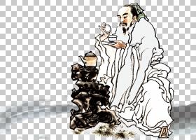 水墨古代人物 中国风古典古人插画PNG (28)