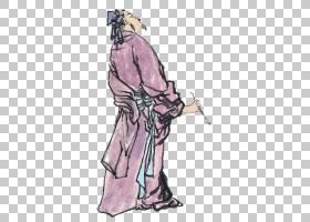 水墨古代人物 中国风古典古人插画PNG (29)