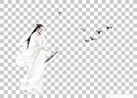 水墨古代人物 中国风古典古人插画PNG (30)
