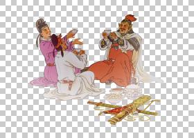 水墨古代人物 中国风古典古人插画PNG (31)
