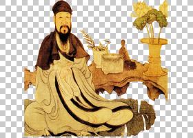 水墨古代人物 中国风古典古人插画PNG (33)