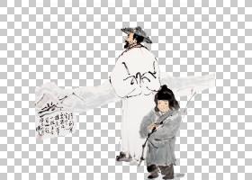 水墨古代人物 中国风古典古人插画PNG (34)