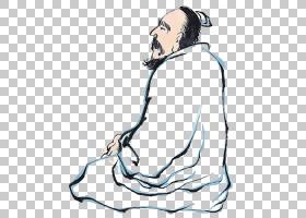 水墨古代人物 中国风古典古人插画PNG (35)