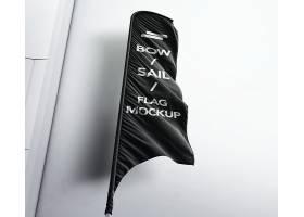 户外街景道旗旗帜广告位展示智能样机