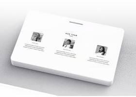 极简企业品牌VI展示通用智能贴图样机