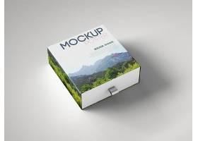原创礼盒模型礼盒包装智能样机素材