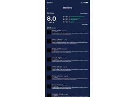 高档大气房地产物业移动应用深色版手机APP端界面设计模板