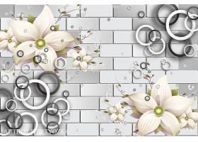 花卉背景主题海报设计
