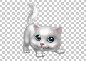 小猫卡通,白色,鼻子,爪子,眼睛,猫,黑猫,绘图,动画片,小猫咪,可爱