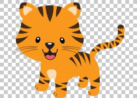 丛林背景,动画片,猫,桔黄色的,动物形象,尾巴,老虎,狮子,彪马,野