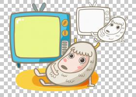 卡通绵羊,技术,线路,沟通,黄色,材料,文本,面积,安卓系统,动画片,
