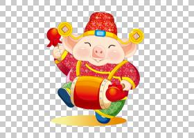 中国猪年,婴儿玩具,小丑,生产,水果,食物,玩具,菜系,农历新年,日图片